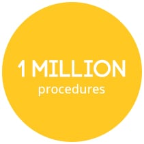 Over 1 million procedures