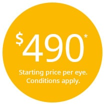 If you find another laser  vision correction clinic offering a better price than us, we will match it. Guaranteed.
