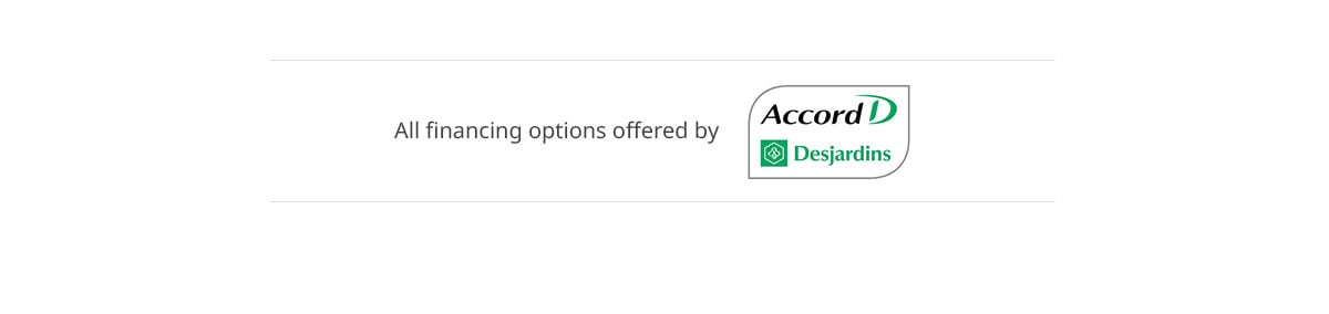 All financing options offered by Accord D by Desjardins